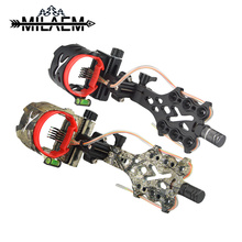 1 piece Compound Bow Sight 5 Pin 0.019 mm Micro Adjustable With Stainless Steel Tube Archery Accessories Hunting Shooting