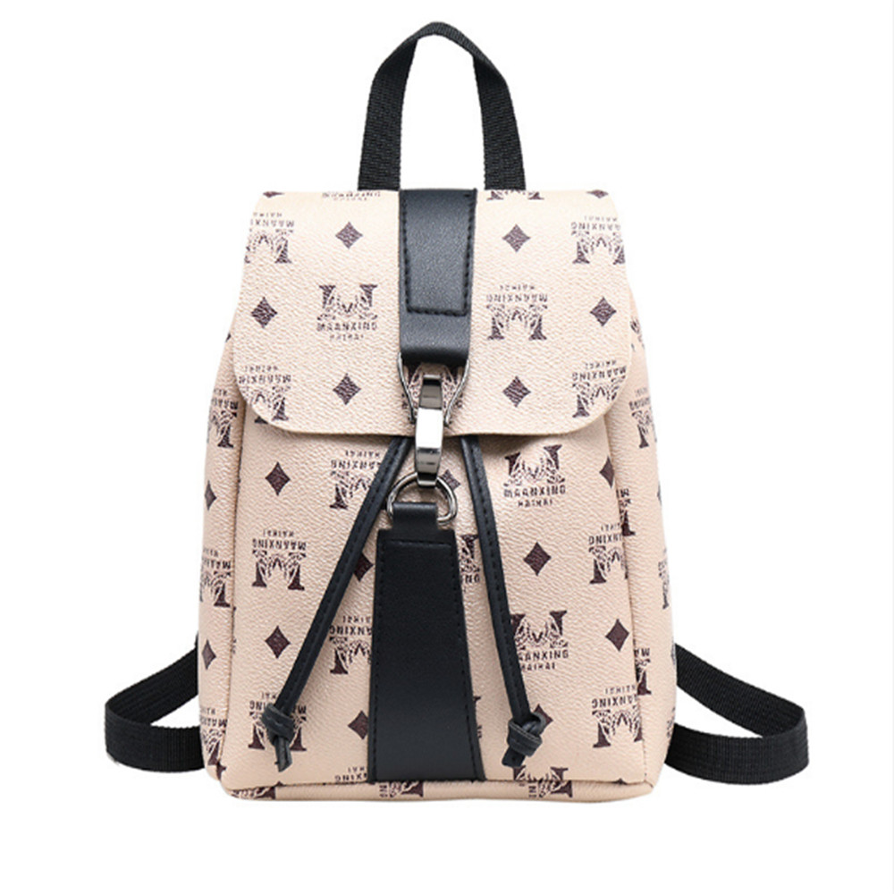 Fashion Mini Backpack PU Leather For Women Female Ladies Girls  Vantage Bag New Style Leisure Travel