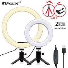 6in 10in anel de luz de led, 16cm 26cm, suporte de telefone, selfie, mini tripé, anel de lâmpada para iphone, huawei, xiaomi youtube vide transmissão ao vivo
