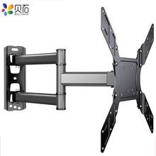 """Soporte de pared de TV giratorio inclinable para Monitor de pantalla plana LED de 26 50 """", VESA 400x400 con brazo de extensión articulado de movimiento completo"""