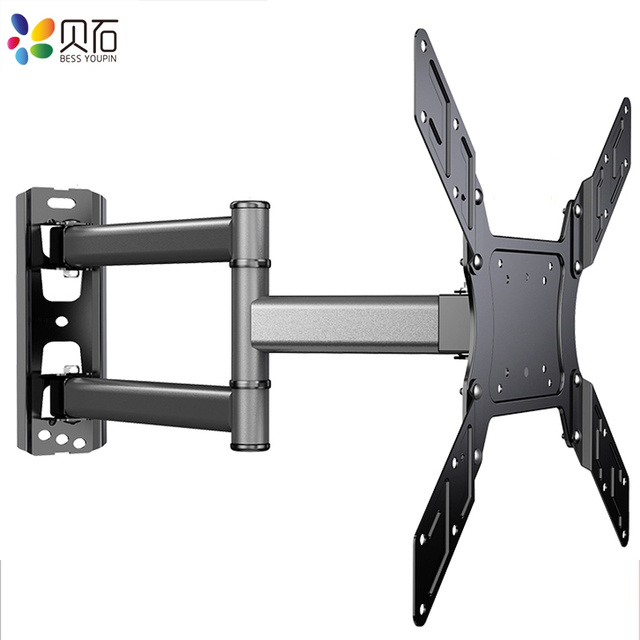 "TV Wall Mount Swivel Tilt Bracket for 26 50"" LED Flat Screen Monitor VESA 400x400 with Full Motion Articulating Extension Arm"