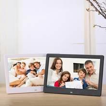 10 polegada Tela LED Backlight HD Digital Photo Frame Álbum de Fotos Eletrônico Música Filme Full Function Bom Presente
