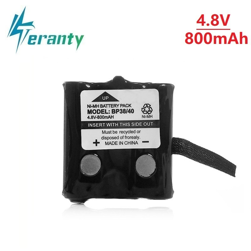 1Pcs 4.8V 800MAH NI-MH Rechargeable Battery Pack For Uniden BP-38 BP-40 BT-1013 BT-537 GMR FRS 2Way Radio Battery