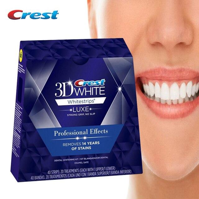 3D Whitestrips Luxe profesjonalne efekty higiena jamy ustnej wybielanie zębów opieka stomatologiczna 5/10/20 leczenie oryginalny białe paski