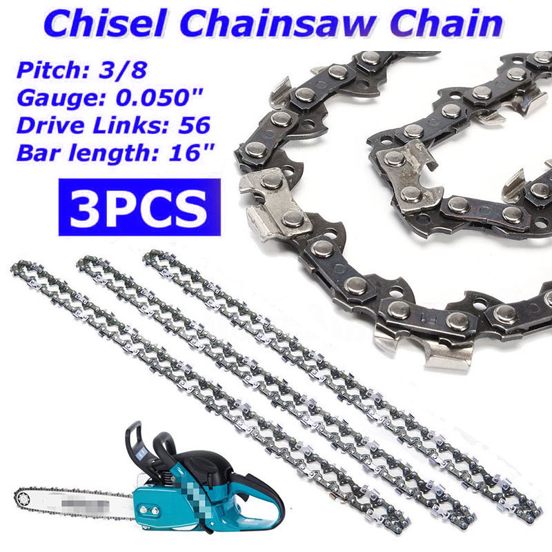 HOT 3 16 Semi Chisel Chainsaw Chain For Makita DC UC NB DCS-3/8 0.050 56 DL Z