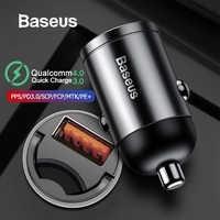 Baseus Carga Rápida 4.0 3.0 C USB Carregador de Carro Para Huawei Xiaomi P30 Mi9 Telefone Móvel QC4.0 QC3.0 Tipo C PD 3.0 Rápido Carregamento Carro