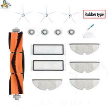 Peças de escova de esfregão, filtro hepa para xiaomi roborock s5 max s6 s60 s65 s50 s55 1s e25 acessórios para aspirador de pó