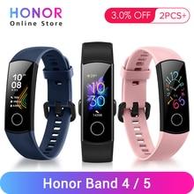 """Huawei Honor Band 4 bandes 5 Bracelet intelligent santé Fitness Bracelet Tracker Amoled 0.95 """"écran tactile moniteur de fréquence cardiaque"""