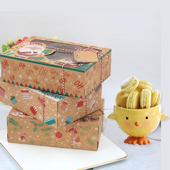 3 6 12 Pcs Kraft Paper ciasteczka świąteczne pudełka prezent piekarniczy pudełka europejskie duże świąteczne opakowanie na słodycze ciasto ciasteczka opakowania prezenty pudełko tanie i dobre opinie CN (pochodzenie) 6 sztuk Tektura Zwierzę rysunkowe Ślub i Zaręczyny przyjęcie urodzinowe Powrót do szkoły CHRISTMAS