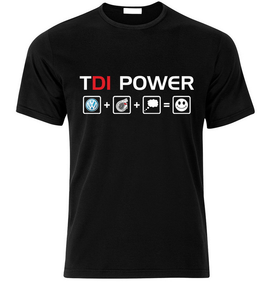 TDI POWER 2,0TDI 1,9TDI GOLF T SHIRT Smlxlxxl Weihnachtsgeschenk Fashion Breathable T-Shirt Men Clothing TShirt Men Summer