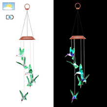 Solar String Lights Color Changing LED Mobile Wind Chimes Waterproof Outdoor _WK