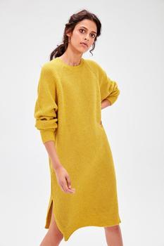 Yellow Sim Detailed Knitwear Dress Best Women Dresses