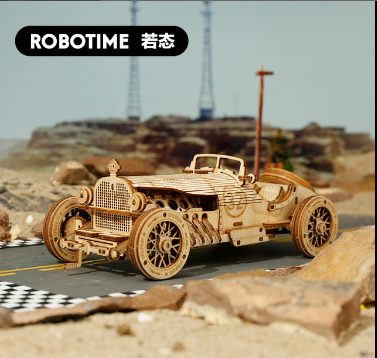 2020 New 3D Three-dimensional Jigsaw Wooden Model Car Steam Train DIY Jigsaw Toy Truck Jeep Birthday Present