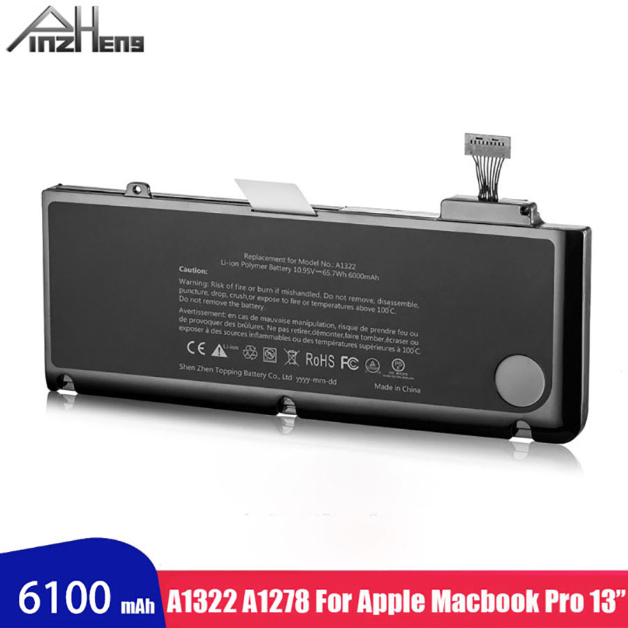 PINZHENG Laptop Battery Fit For Apple Macbook Pro 13 Battery A1322 A1278 Voltage With Protective Circuit Laptop Bateria