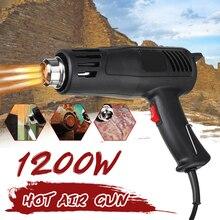 Heat Gun Power 1200W Hot Air Gun 150°C-550°C Plug-in Dual Air Flow Settings for  Shrink Wrapping/Tubing, Paint Removal