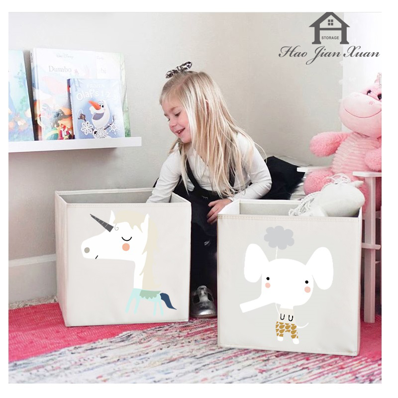 2020 New Cube Folding Storage Box For Kids Toys Organizer Clothes Underwear Socks Storage Bins 3 Size Boxes Organizador(China)