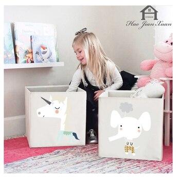 2020 New Cube Folding Storage Box For Kids Toys Organizer Clothes Underwear Socks Storage Bins 3 Size Boxes Organizador