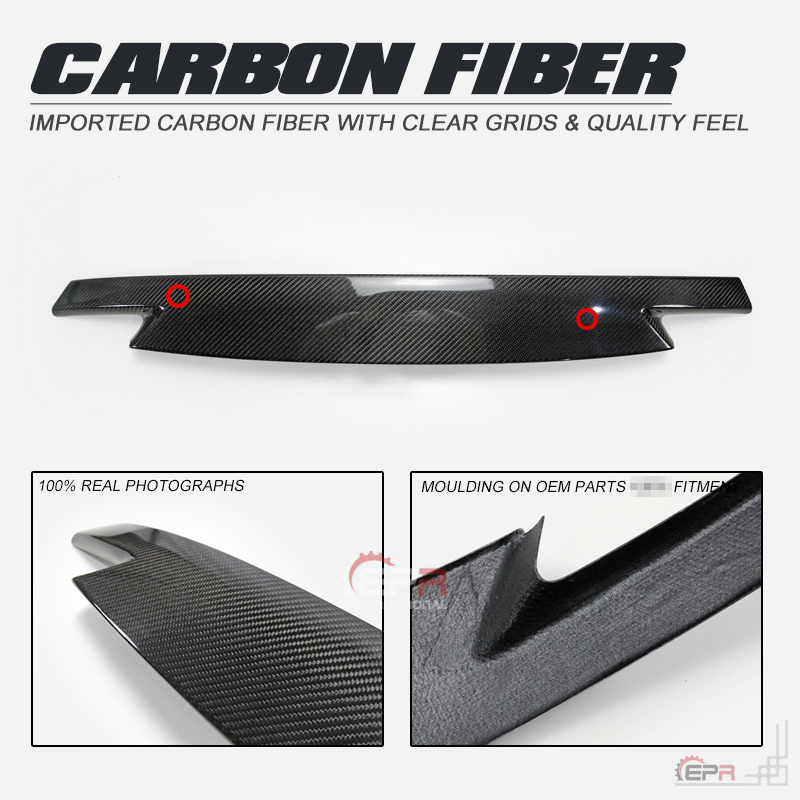 Carbon Fiber Front Bumper Trim For Mazda MX5 Miata ND Front Grill Cover Body Kit Tuning For Miata MX5 Racing Part