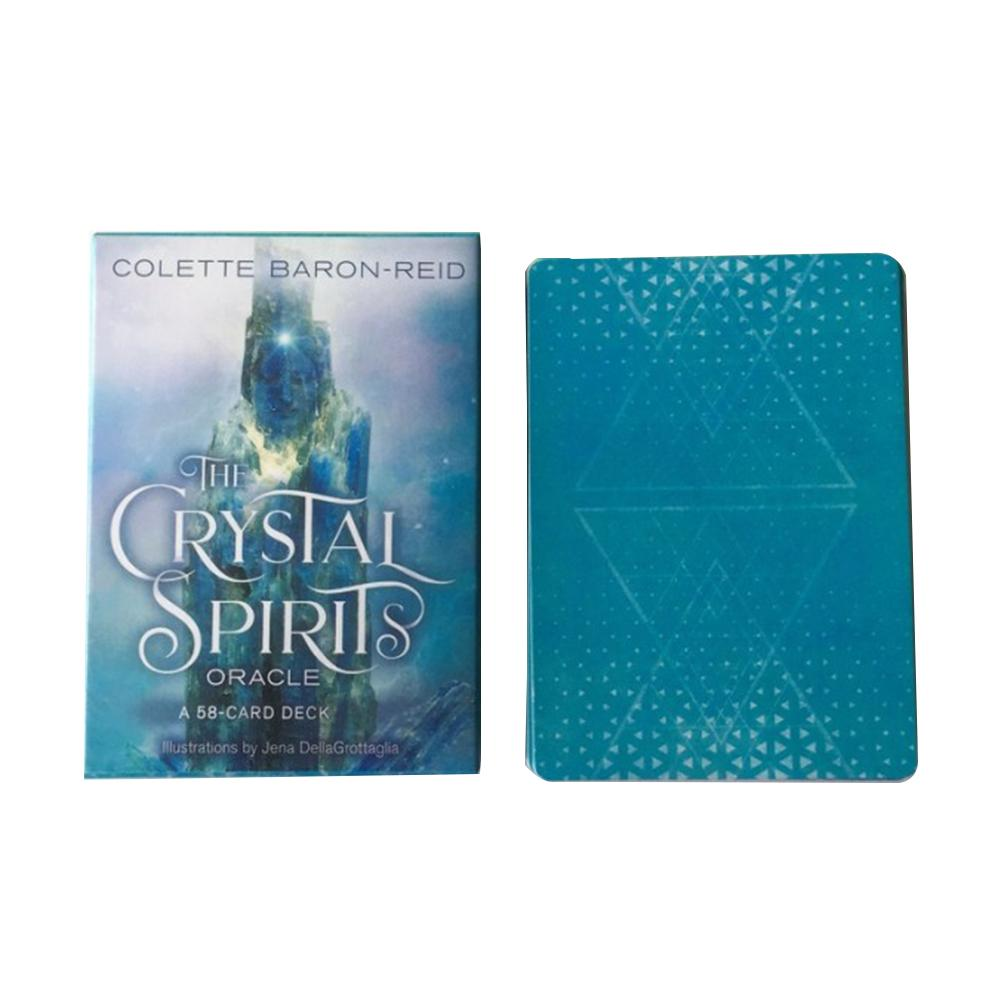 58pcs CrystalSpirits Oracle Tarot Cards Deck Board Games For Party Playing Card Game Table Entertainment