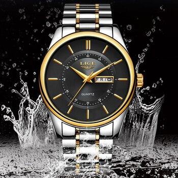 LIGE New Men Watches Top Brand Luxury Fashion Business Quartz Camouflage Watch Men Sport Waterproof Date Clock Relogio Masculino 4