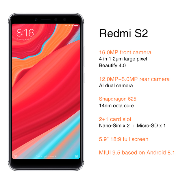Smartphone Xiaomi Redmi S2 2
