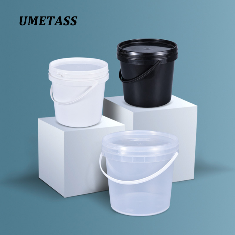 High Quality 2L Plastic Bucket With Handle And Lid Unbreakable Container For Food Honey Paint Disinfectant 1PCS