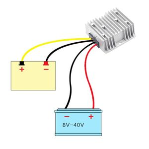 Image 2 - Stabilisateur de tension cc 8 40V à 12V 3/6A 36/72W convertisseur abaisseur dalimentation