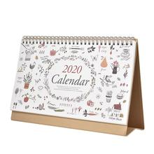 Hot Sale 2020 Desk Calendar Planner Double Sided Standing Tent Desktop Flip Easel Table Top