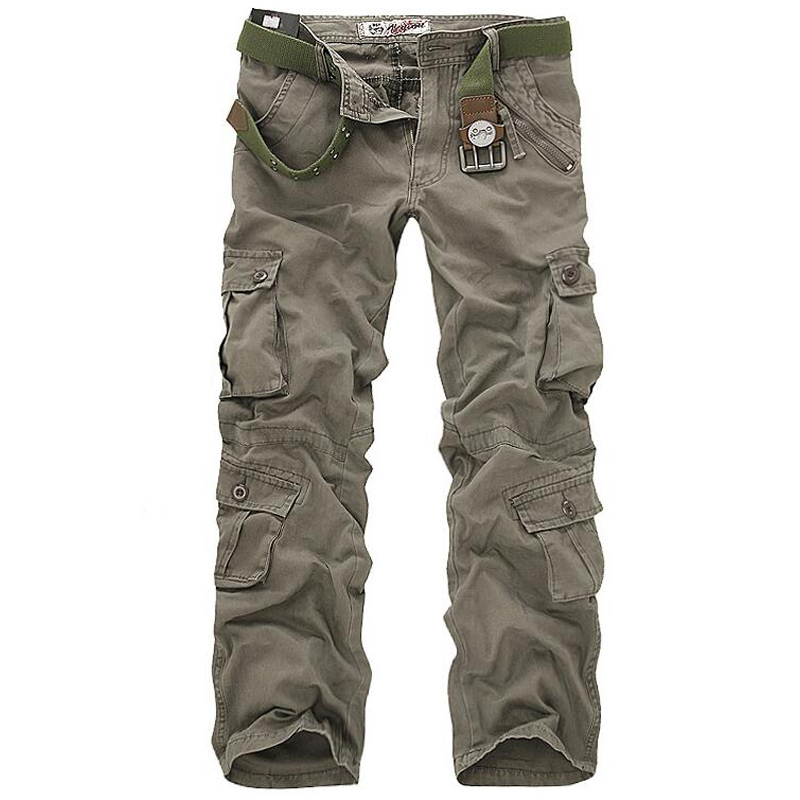Men Cargo Pants High Quality Casual Loose Multi Pocket Camouflage Military Pants Men's street Joggers Plus Size 44 Long Trousers 6