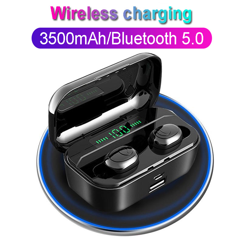 TWS G6S Wireless Headphones <font><b>8D</b></font> Stereo Bluetooth 5.0 <font><b>Earphone</b></font> LED Display Headset IPX7 Waterproof earburd 3500mAh case for iphone image