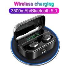 TWS G6S kablosuz kulaklıklar 8D Stereo Bluetooth 5.0 kulaklık LED ekran kulaklık IPX7 su geçirmez earburd 3500mAh kılıf iphone