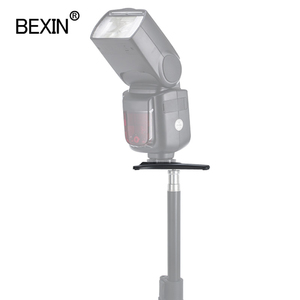 Image 5 - BEXIN Universal Flash stand Black High Quality Flash Stand Shoe bases Adapter Mount for Nikon Canon 580EX SB600 SB900 Speedlite