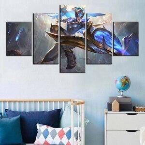 5 или комплект из 3 предметов Куинн League of плакат с легендами видео игры картина маслом Фанарт диван Фоновые украшения плакат, наклейки на сте...