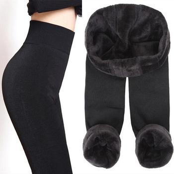 High Waist Large Size Women Leggings Inside Thicken Fur Warm Leggings Womens Winter Fleece Legging Pants Female Velvet
