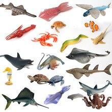 Океанская море, Реалистичные Модели существ океана, детские развивающие познавательные игрушки для детей в ассортименте