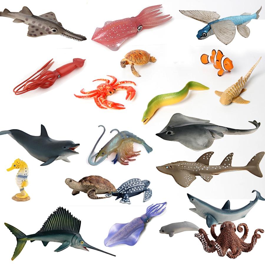 Oceano Animais Marinhos Brinquedos Figura, As Criaturas Do Oceano Modelos de Ação Realista, Kids Educacional Cognitivas Brinquedos para Crianças Assorted