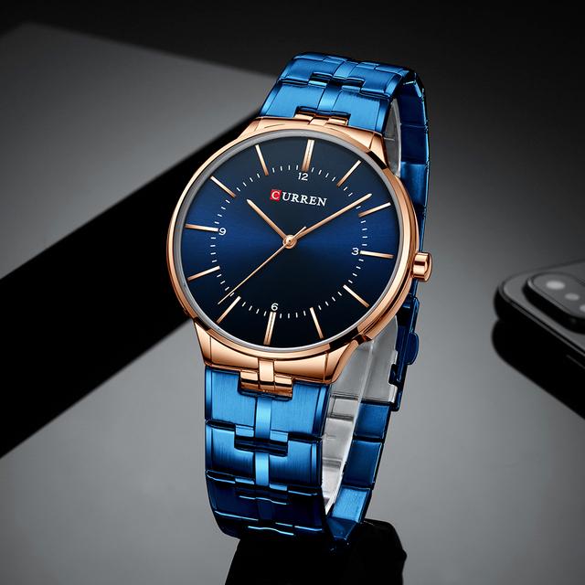 CURREN Relogio Men Watches Fashion Blue Man Watch 2019 Luxury Brand Waterproof Quartz Analog Wrist Watch Men Reloj Hombre