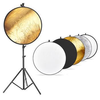Neewer oświetlenie studia fotograficznego reflektora i zestaw stojaków 43 cal es 110 cm 5 w 1 reflektor wielotarczowy 75-cal lekki statyw tanie i dobre opinie 90087448 ROUND