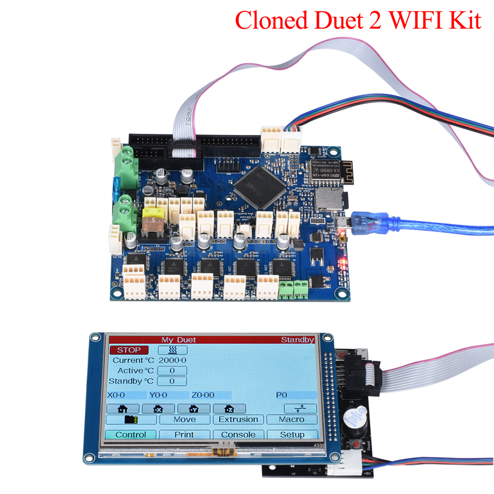 Cloned Duet 2 Wifi V1.04 DuetWifi 32 Bit Controller Board With 4.3'' 5'' 7'' PanelDue Touch Screen For BLV MGN 3D Printer Parts image