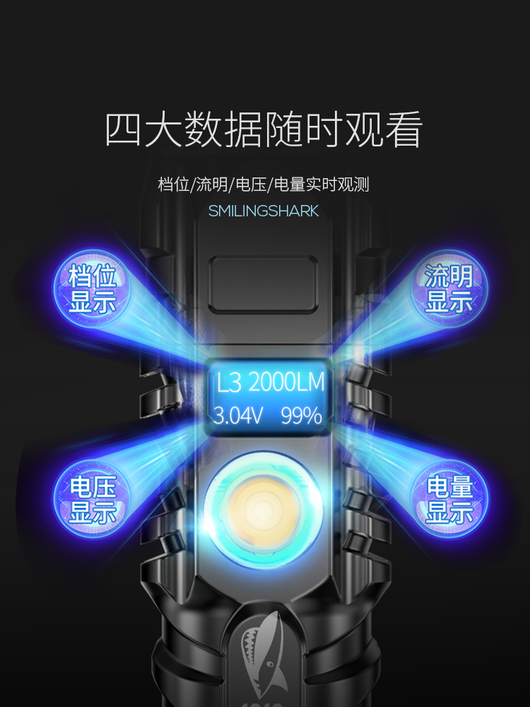 linterna usb poderosa lanterna recarregavel luz suprimentos acampamento bi50fl 02