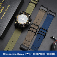 NATO Nylon Watch Strap For G SHOCK GWG 1000GB Accessories Modification For Top Brand Watch Band For Casio Watch