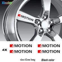 4 pçs 4 movimento etiqueta da roda do carro para volkswagen vw golf passat scirocco lavida jetta cc eos polo touareg tiguan