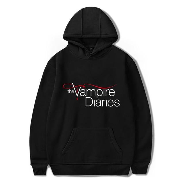 The Vampire Diaries Hoodies moletom Long Sleeve Pullovers Sweatshirt Korean Women Hooded tracksuit Kawaii Harajuku Hip Hop hoody