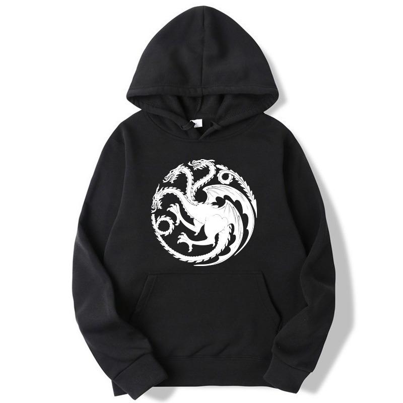 Fashion Brand Men's Hoodies Game Of Thrones Printing Blended Cotton Spring Autumn Male Casual Hip Hop Hoodies Sweatshirts