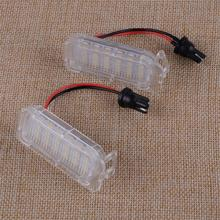 CITALL No Error LED 3528 SMD Number License Plate Light Assembly Lamp Lights Replacement Fit for Jaguar XF X250 XJ X351