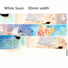 15/30mm BY 5M Swan Washi tape Ballet Scrapbooking Masking Tapes  for  DIY Student gift Christmas decor office stationary supply