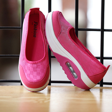 Women Platform Sneakers 2020 New Fashion Womens Casual Office Shoes Wedges Swing Shoes Thick Sole Big Size 42 Nurse Work Shoes