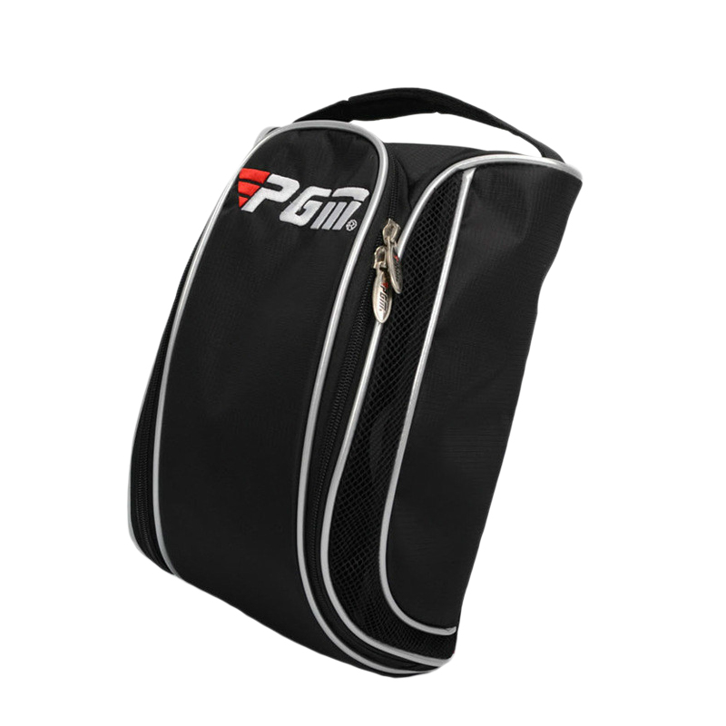 Super Sell-Pgm Golf Shoes Bags For Man Pu Leather Waterproof Sport Bag Portable Golf Shoes Bag Black