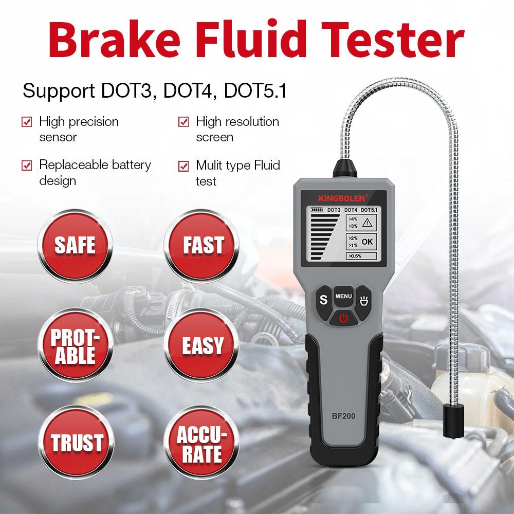 12 В автоматический тестер тормозной жидкости Цифровой Автомобильный тормозной масляный инструмент BF100/BF200/DY23B автоматический масляный инст...