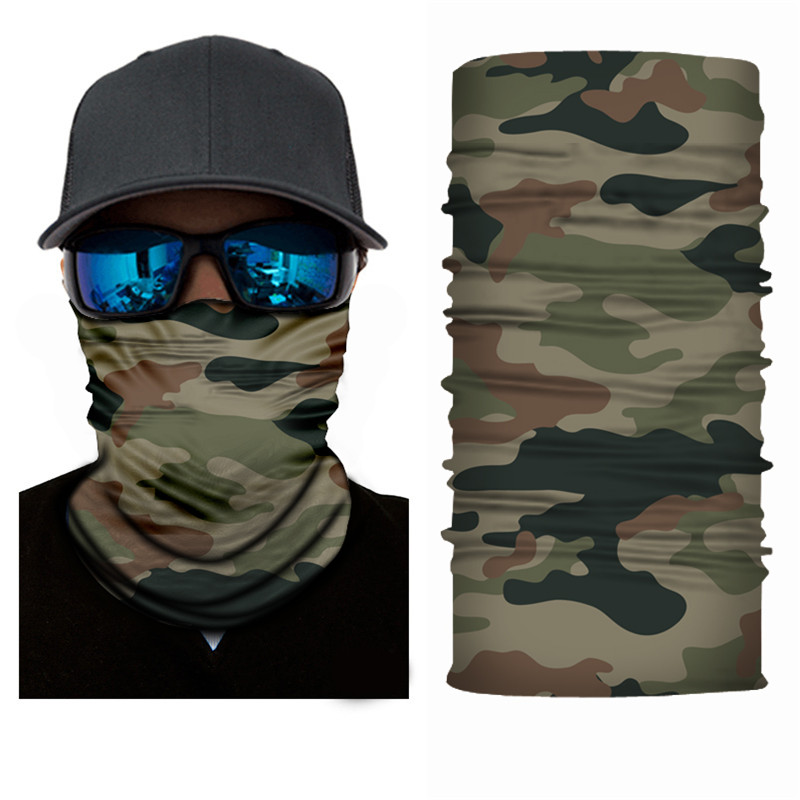 High-Jump Camping Hiking Scarf Men's Bandana Polyester Bandana Dust Proof Outdoor Hiking Cycling Bandana Camouflage Face Mask
